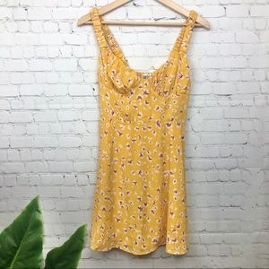 Free People Leopard Print Mini Dress Small